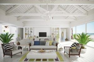 Organización y ahorro de espacio para una casa de playa